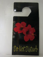 DO NOT DISTURB DOOR HANGER SIGN  RED HIBISCUS FLOWERS  DESIGN