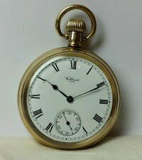 WALTHAM USA POCKET WATCH GOLD PLATED SIZE 16S MOVEMENT #21172192 GOOD CONDITION