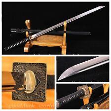 JAPANESE SAMURAI SWORD FOLDED KATANA PATTERN STEEL RAZOR SHARP BATTLE READY #584