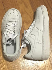 Nike AIR FORCE 1 PS White Shoes Youth Kids Boys 314193-117 Low Sneakers 13.5C