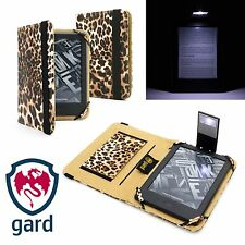 LEOPARD PU LEATHER CASE COVER FOR AMAZON KINDLE WiFi/3G WITH SLIM READING LIGHT