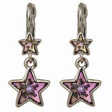 NEW KIRKS FOLLY NORTH STAR LEVERBACK EARRINGS  SILVERTONE