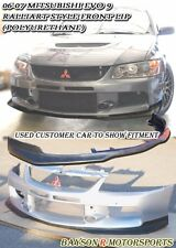 Ral-Style Front Lip (Urethane) Fits 06-07 Mitsubishi EVO 9 [EVO BUMPER ONLY]