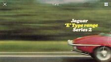 Jaguar e type 4.2 série 2 1968-71 uk market dépliant brochure roadster coupe 2+2