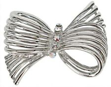 RUCINNI  Bow Brooch with Swarovski Crystal