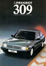 Peugeot 309 1987-88 UK Market Smaller Format Brochure GTi XS SR GR GL XL GE XE