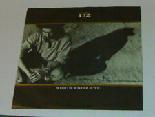 "7"" PS U2 WITH OR WITHOUT YOU 3T (USA 1987)"