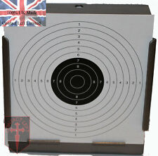 High Quality Target Holder Pellet Trap + 100 Air Rifle Shooting Paper Targets