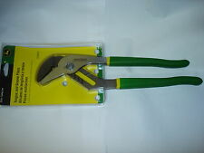 NEW JOHN DEERE TONGUE AND GROOVE PLIERS 12 INCH PIPE WRENCH STYLE TEETH