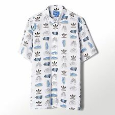 "NEW MEN'S ADIDAS ORIGINALS NIGO 25 ""SHOE POP"" SHORT SLEEVE SHIRT ~LARGE  #S24518"