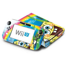 Spongebob Squarepants for Nintendo Wii U Console & GamePad Skin Decal Cover