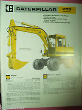 ✪altes original Prospekt Sales Brochure CAT Caterpillar 206 Hydraulic Excavator