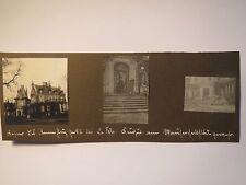 Frankreich - I. Weltkrieg - Bei La Fère - Haus Soldat Flieger ? Auto / 3x Foto
