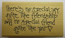 Rubber Stamp Special Joy like Friendship
