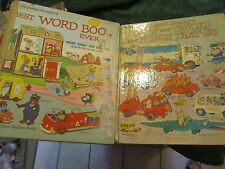 Lot of 2 Richard Scarry's Scarry -1974 things that go 1970 Best Word Book - LUD