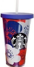 New STARBUCKS Floral Double Wall Acrylic Cold Tumbler 16 OZ/ Grande