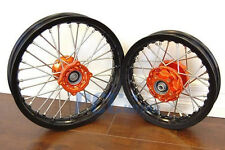 KTM50 SX KTM 50SX 50 Black Rim CNC Hub 12/10 WHEELS SET ORANGE 2002-2013 V RMT09