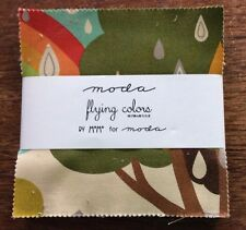 """Flying Colors by MoMo for Moda  - fabric Charm Pack - 5"""" squares"""