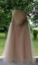 White By Vera Wang Bride's Maid Or Prom Dress Size 0 Champagne.$189 Formal Dress