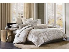 Echo Design Odyssey Queen Comforter Bedding Set Ivory Beige Paisley New 6
