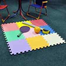 9 Piece Multi Coloured Play Mat Set Suitable Aged 3+ Tiles 29cmx29cm Cheap!