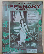 Tip-Top Tipperary Mary - 1914 large sheet music - pretty woman in forest photo