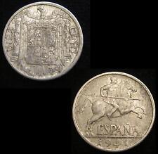 *GUTSE* FRANCO-742, 10 CÉNTIMOS 1941, PLVS con V, ESCASA, MBC+