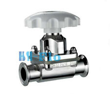 """3/4"""" Sanitary Stainless Steel 316L Tri-Clamp OD 50.5mm Diaphragm Valve Silicone"""