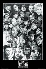 RAP GODS MUSIC (LAMINATED) POSTER (61x91cm) EMINEM SNOOP DRE HIPHOP NEW LICENSED