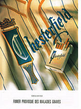 PUBLICITE ADVERTISING 074  1992  CHESTERFIELD    cigarettes