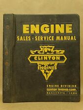Vtg Clinton Engines Service Manual Parts Catalog List Specifications Book 1950's