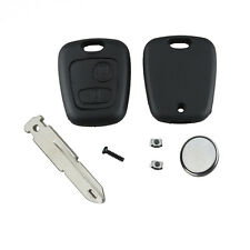Repair KIT for Peugeot 206 2 button remote key case switches & battery DIY SWUK