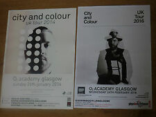 City And Colour Scottish tour Glasgow concert gig posters x 2