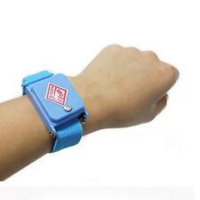 Anti Static Cordless Bracelet ESD Discharge Cable Wrist Strap Cool Blue Nice Uk