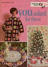Star 208 You Asked For These Crochet Patterns Granny Coat Doilies Edgings 1960s