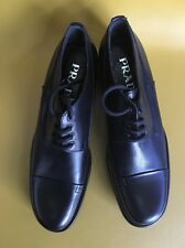 Women's Prada Skiskolaer Leather Chunky Heel Oxfords Size 37