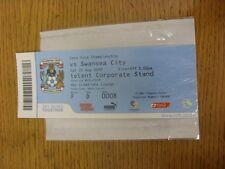 22/08/2009 BIGLIETTO: Coventry City V Swansea City (SKY creazioni Lounge). se non