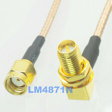 FPV Transmitter Antenna Extension Cable 90 Degree RP-SMA To RP-SMA Jack