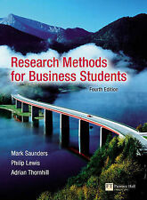 Research Methods for Business Students Lewis, Thornhill, Saunders DISSERTATION