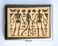 Anatomy Skeletons Cigarette Case Wallet Business Card medical gothic victorian