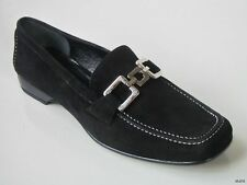 """new CLAUDIA CIUTI """"Maxy"""" black suede chain loafers shoes FLATS 4.5 classic style"""