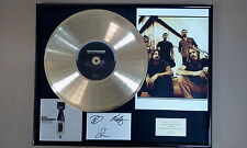 FOO FIGHTERS ECHOES Fully hand signed x3 Gold Disc frame