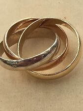 Must De Cartier Trinity 3 Colour Gold Ring