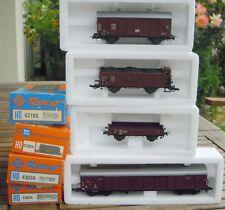Roco 4303A, 4310S, 4369A, 4390A Konvolut 4 Stück Güterwagen der DB Ep. in OVP