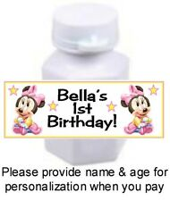 30 Baby Minnie Mouse Birthday Party Shower Bubbles For Mini Bubble Bottle Favors