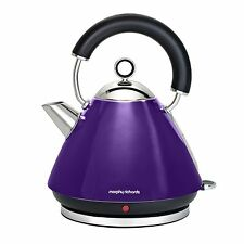 Morphy Richards Accents 43769 1.5Ltr - 3Kw Pyramid Kettle in Plum - Brand New