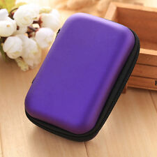 New Portable Earphone Earbuds Storage Bag Case Card Holder Travel Square Zip Box