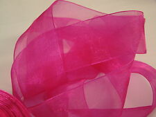 38 MM WOVEN EDGE SHEER ORGANZA CHIFFON RIBBON HIGH QUALITY 13 COLORS 1, 2 & 5 M