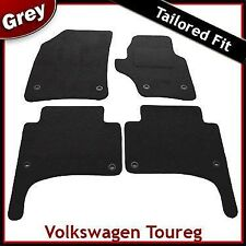 Volkswagen VW Touareg Tailored Fitted Carpet Car Mats GREY (2003 - 2009) Oval