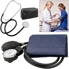 ANEROID SPHYGMOMANOMETER Nylon Bracciale della pressione sanguigna meter+stethoscope KIT MEDICO